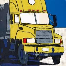 Yellow UPS Truck by JASPER KNIGHT
