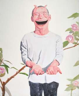 Untitled (Smile-ism No. 22) by YUE MINJUN