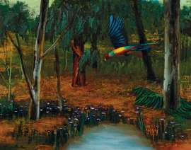 Parrot, Forest and Pond by ALBERT TUCKER