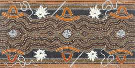 Tjungurrayi and Tjapaltjarri Dreaming  by CLIFFORD POSSUM TJAPALTJARRI