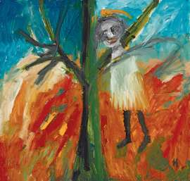 Girl and Fire by SIDNEY NOLAN image