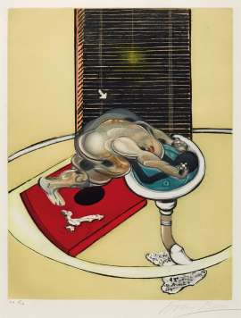 Figure at a Washbasin (from Requiem pour la Fin des Temps) by FRANCIS BACON