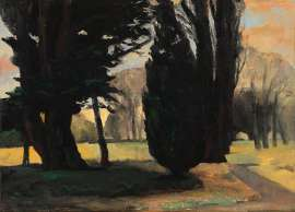The Garden at Evening by RICK AMOR