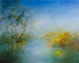 Bathing in the Reflections of the Golden Wattle by DAVID BOYD
