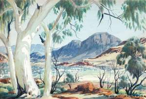 Haasts Bluff, Central Australia by ALBERT NAMATJIRA