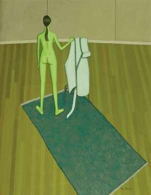 Green Nude by JOHN BRACK