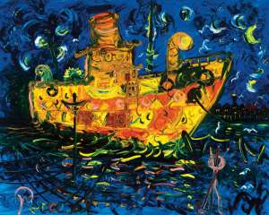 Boat at Night (Williamstown series) by JOHN PERCEVAL
