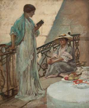 On the Landing by RUPERT BUNNY
