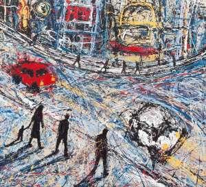 Oxford St, Street Scene by MARK HANHAM