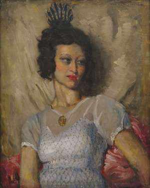 Portrait of Rita by NORMAN LINDSAY