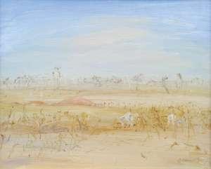 Sheep Grazing, Wimmera by ARTHUR BOYD