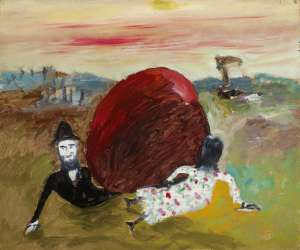 Kate Kelly Pursued by Constable Fitzpatrick by SIDNEY NOLAN