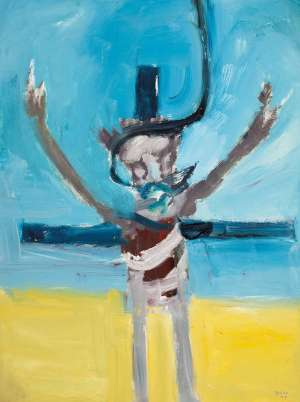 Hanged Crucifix by SIDNEY NOLAN