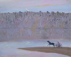 Jinker on the Sandbank, Shoalhaven by ARTHUR BOYD