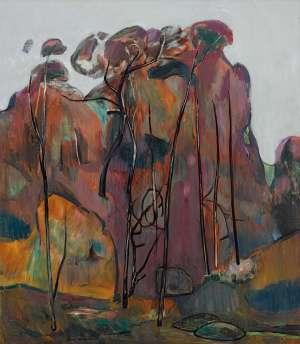 Purple Landscape by FRED WILLIAMS