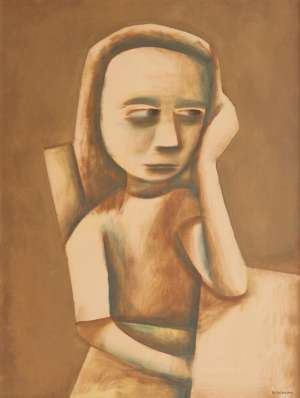 Girl at Table by CHARLES BLACKMAN