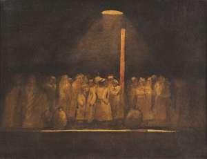 Soldiers on Platform by JEFFREY SMART
