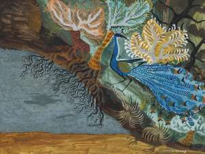 Untitled (Peacock) by DONALD FRIEND