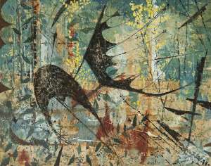 Bush with Bats by CLIFTON PUGH