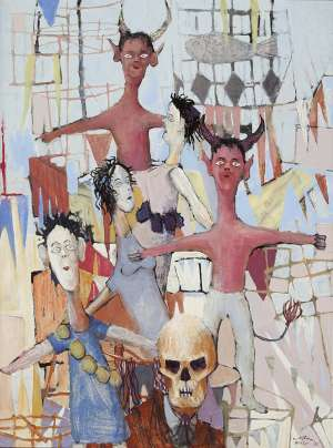Pinturas (also known as The Fiesta of the Dolls) - CLIFTON PUGH