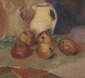 Still Life with Apples and Jug - CLIFTON PUGH