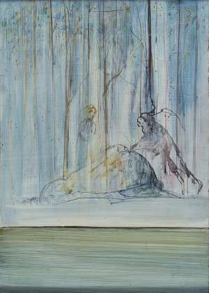 Moses Striking the Rock by ARTHUR BOYD