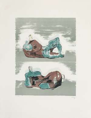 Two Reclining Figures - HENRY MOORE