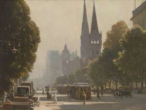Collins Street Looking West from Exhibition Street by ROBERT TAYLOR-GHEE