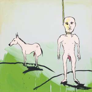 Self Portrait with Horse by ADAM CULLEN