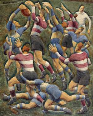 Footballers by WEAVER HAWKINS