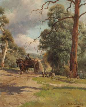 On the Road to Warrandyte by J H SCHELTEMA