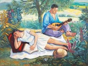 Psalm 52: Sunday Afternoon by SALVATORE ZOFREA