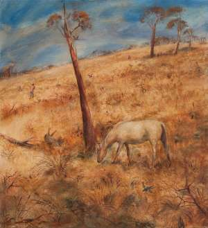 Landscape with Poddy by ARTHUR BOYD