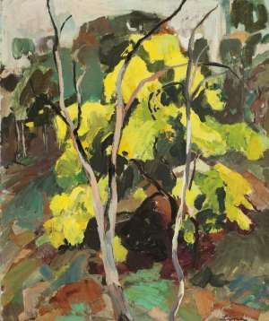 Untitled (Landscape with Wattle) by LINA BRYANS