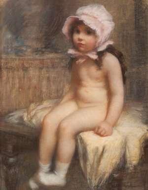Pink Bonnet by JANET CUMBRAE-STEWART