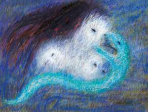 Serpents - Three Heads and Snake by ARTHUR BOYD