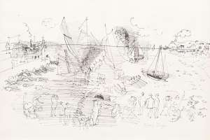 Regatta in Trouville by RAOUL DUFY