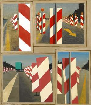 Panel of Studies for Autobahn in the Black Forest by JEFFREY SMART