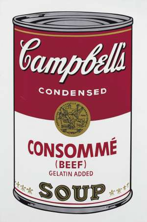 Consommé (Beef), from Campbell's Soup I by ANDY WARHOL