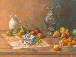 Silver Jug with Fruit by JUSTIN O'BRIEN
