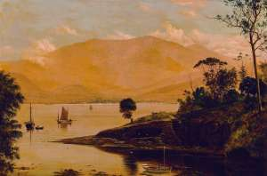 Mount Wellington and Hobart from the Eastern Shore by HAUGHTON FORREST