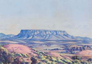Mount Connor by ALBERT NAMATJIRA