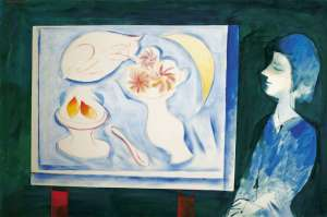Interior with Girl by CHARLES BLACKMAN