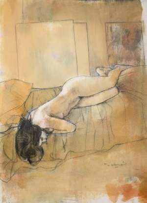 Nude with Black Hair by WILLIAM BOISSEVAIN