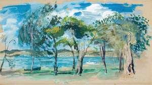 Lake Scene Wangi by WILLIAM DOBELL
