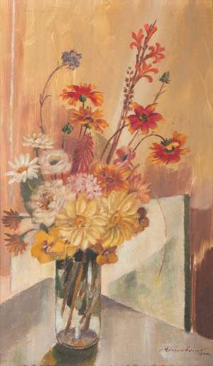Still Life with Mixed Bunch by ADRIAN FEINT