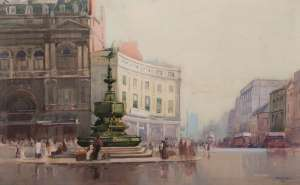 Piccadilly Circus by SYDNEY LONG