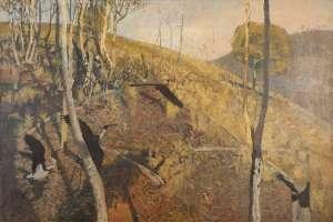 Landscape with Ibis by DAVID SCHLUNKE