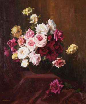 Still Life with Roses by ALBERT SHERMAN
