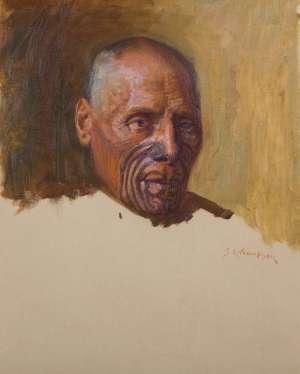 Maori Portrait by SYDNEY LOUGH THOMPSON